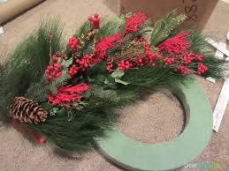 decor winter wreath made from clearance garland on
