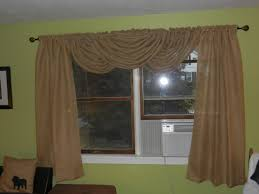 Burlap Window Treatments Burlap Drapes With Waterfall Valance