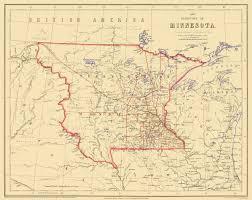 Minnesota Map Old State Map Minnesota Territory Rogers 1857