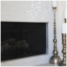 glass tile for fireplace fireplace before and after white glass
