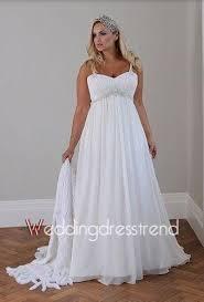 new a line court train chiffon plus size wedding dress for sale