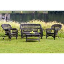 sahara all weather wicker patio set seats 4 hayneedle