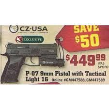 black friday gander mountain cz usa p 07 9mm pistol with tactical light 16 449 99 gander mtn