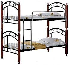 Steel Bunk Bed With Mahogany Wooden Legs  X  X  Cm Price - Steel bunk beds