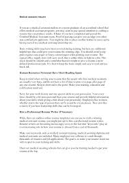 Resume Writing Certification Online by Examples Of Medical Assistant Resumes Free Resume Example And