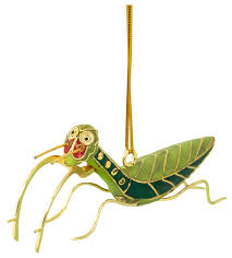 cloisonne praying mantis ornament traditional