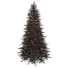 7 5 foot slim black tree 600 clear pre lit lights pvc