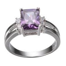 Purple Wedding Rings by Wedding Rings Mens Amethyst Ring Purple Amethyst Engagement Ring