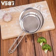 glacer en cuisine 3 pcs ensemble acier inoxydable farine poudre tamis tamis cuisine de