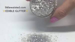 edible bling metallic silver edible glitter sugar sprinkles bakery bling