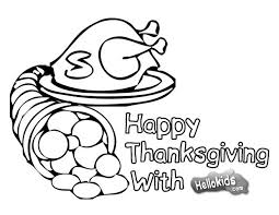 cornucopia for thanksgiving coloring pages hellokids