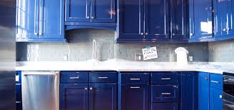 kitchen blue cabinets benefits of refinishing your kitchen cabinets