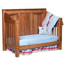 Solid Back Panel Convertible Cribs Amish Furniture Crib Images Cottage Seaside Style Armoire From