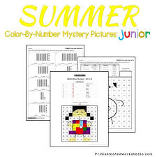 place value mystery number summer place value color by number printables worksheets