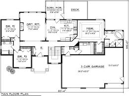 ranch floor plans with 3 car garage wonderfull design ranch house plans with 3 car garage 81 best