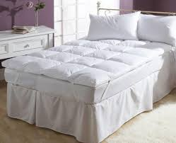 brinkhaus twin topper goose down feather mattress topper bed topper sleeplace 4 inch premium bed topper 2 layer cool gel