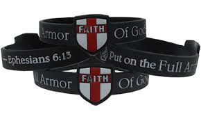 armor of god bracelet of god black faith shield silicone bracelet