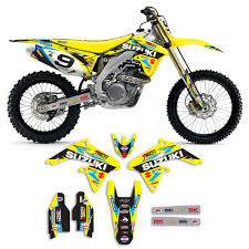 motocross gear companies rmz 450 graphics decals emblems ebay