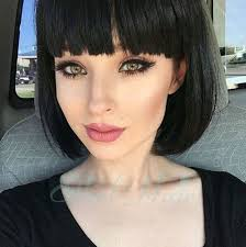 hairstyles for straight across bangs 40 best short hairstyles with bangs short hairstyles haircuts