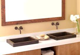 bathroom ideas dark brown rectangular small sink with bright