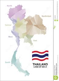thailand vector map map thailand stock vector illustration of template 55399960