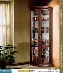 Glass Curio Cabinet With Lights Furnitures Fill Your Home With Dazzling Curio Cabinets For