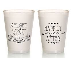 customized wedding favors personalized wedding cups happily after custom wedding