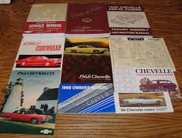 1968 chevrolet chevelle shop service manual owners assembly