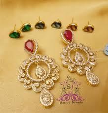 diamond earrings online buy beautiful changeable american diamond earrings online