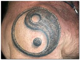 tiger yin yang on back shoulder photos pictures and