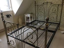 rebecca antique brass double bedstead frame in north baddesley