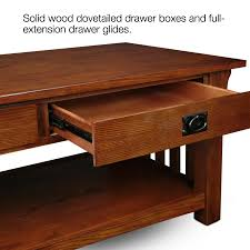 Wooden Coffee Table With Drawers Amazon Com Coffee Table In Medium Oak Finish Kitchen U0026 Dining