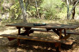 Folding Wooden Picnic Table Plans by Furniture Enjoy Your Backyard With Perfect Picnic Tables Lowes