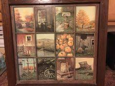 sell home interior vintage home interior homco b mitchell window pane picture rustic