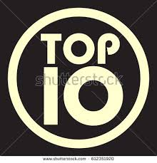 top ten black white icon stock vector 573483562