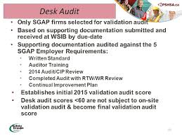 Desk Audit Welcome Meeting 1 Program Guidelines 2 Pshsa Safety Group