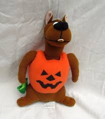 animals halloween trick or treat scooby doo dog pumpkin plush toy stuffed animal