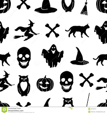 black and white cartoon shapes on halloween theme royalty free