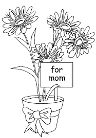 coloring pages mothers day flowers mother s day flowers coloring page coloring book