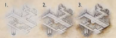 Iso Map How To Draw A Dungeon Map Part 2 Colour Fantastic Maps