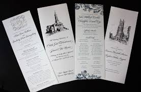 wedding church programs thin wedding programs featuring scrolls monogram flowers