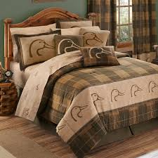 Twin Plaid Comforter Ducks Unlimited Plaid Comforter Set Free Shipping