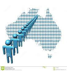 Australia Population Map Australia Map With People Stock Photo Image 11848640