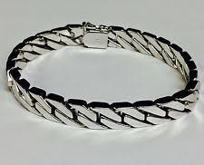 Handmade Mens Bracelets - 14k white gold bracelets for ebay