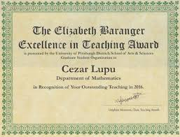 teaching cezar lupu