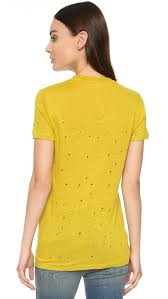 lyst iro clay linen tee in yellow
