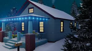 Decorative Christmas Boxes With Lights by Cozy Rural House Decorated For Christmas With Christmas Lights