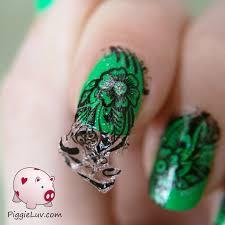 piggieluv easy nail art with kiss nail tattoos