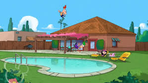 Phineas And Ferb Backyard Beach Game Image Phineas And Ferb Fall Into Isabella U0027s Pool Jpg Phineas