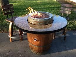 Wine Barrel Patio Table Wine Barrel Pit Barrels Garden And Wines
